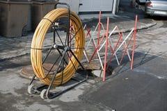 Arbeiten im Abwasserkanal Lizenzfreies Stockbild