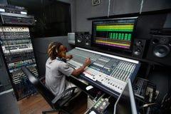 Arbeiten im Studio Stockfoto