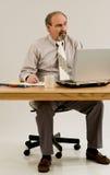 Arbeiten mit COPD oder Emphysem lizenzfreie stockbilder