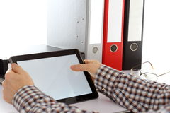 Arbeiten mit Tablet-Computer Stockfotografie