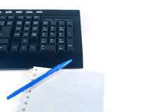 Arbeiten mit Tastatur Stockbilder