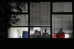 Arbeiten nachts Lizenzfreie Stockfotografie