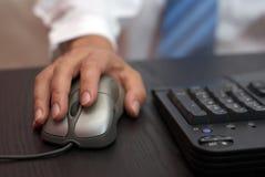 Arbeiten am PC Lizenzfreies Stockfoto