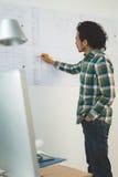 Arbeiten an Plan Stockfoto