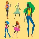 Arbeiten Sie Blickmädchenschattenbild die schöne Mädchenfrau um, die weiblich und hübsch ist, jung, vorbildlich, Art, Haar, Damen Stockbilder
