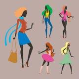 Arbeiten Sie Blickmädchenschattenbild die schöne Mädchenfrau um, die weiblich und hübsch ist, jung, vorbildlich, Art, Haar, Damen Stockfoto