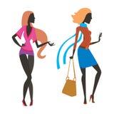 Arbeiten Sie Blickmädchenschattenbild die schöne Mädchenfrau um, die weiblich und hübsch ist, jung, vorbildlich, Art, Haar, Damen Stockbild