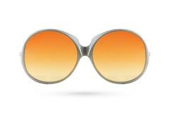 Arbeiten Sie die orange Glasart um, die auf weißem Hintergrund Plastik-gestaltet wird lizenzfreie stockfotografie
