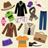 Arbeiten Sie Kleidung und Zubehör um Lizenzfreies Stockbild