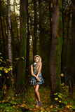 Arbeiten Sie Portrait der jungen schönen Frau um Stockfoto