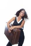 Arbeiten Sie Portrait der schönen Frau um Lizenzfreies Stockfoto