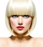 Arbeiten Sie Schönheits-Porträt um Stockbild