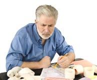 Arbeiten an Steuern Lizenzfreies Stockfoto