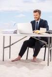 Arbeiten weit weg vom Büro Lizenzfreies Stockfoto