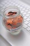 Arbeiten, zum des Geldes zu sparen Stockfotos