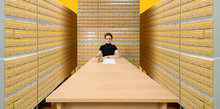 Arbeiter des Archivs Lizenzfreie Stockfotografie