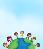 Arbeiter um die Erde vektor abbildung