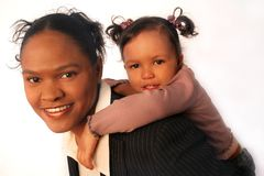 Arbeiterfamilien - Mutter und Tochter Stockbild