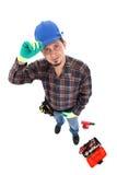 Arbeitersansicht von oben Stockbild