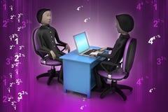 Arbeitgeber und Bewerber, Einstellungskonzept des Jobs Lizenzfreies Stockfoto