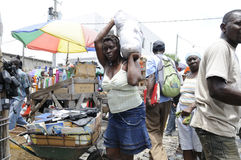 Arbeitnehmerin in Haiti. Stockbilder
