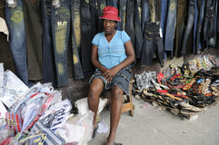 Arbeitnehmerin in Haiti. stockfotografie