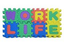 Arbeits-Leben-Puzzlespiel Stockfotografie