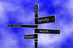 Arbeits-Leben-Schwerpunkt Stockfotos