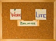 Arbeits-Leben-Schwerpunkt auf einem Vorstand Stockbilder