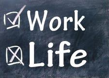 Arbeits- oder Lebenwahlen lizenzfreies stockbild