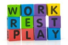 Arbeits-Rest-Spiel Lizenzfreies Stockbild