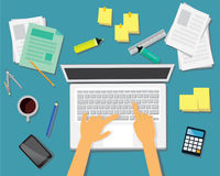 Arbeits-Schreibtisch-Geschäfts-Konzept Lizenzfreies Stockfoto