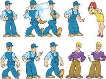 Arbeits-Service-Kerle und ihre guten Klienten Lizenzfreie Stockfotos