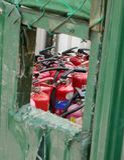Arbeits-Site-Feuer-Sicherheit Stockfotografie