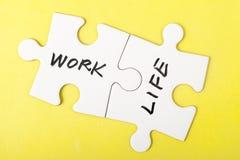 Arbeits- und Lebenwörter Stockbilder
