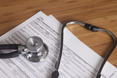Arbeits-Verletzungs-Antragsformular Lizenzfreie Stockfotos