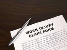 Arbeits-Verletzungs-Formular lizenzfreies stockfoto