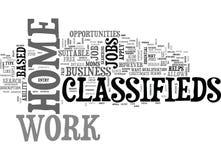 Arbeits-zu Hause Kleinanzeigen-Wort-Wolke Lizenzfreies Stockbild