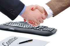 Arbeitsabkommen Stockfoto