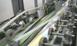 Arbeitsdruckmaschine stockbild