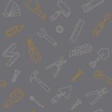 Arbeitsgeräte lineart Muster Stockfotografie
