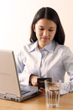 Arbeitsgeschäftsfrau Stockfotografie