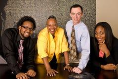 Arbeitsgruppe auf einer Telefonkonferenz Lizenzfreies Stockfoto