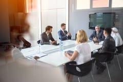 Arbeitsgruppe bei der Sitzung Stockfotos