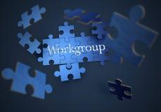 Arbeitsgruppenpuzzlespiel stock abbildung