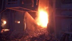 Arbeitsherdfeuerofen stock video