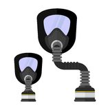 ArbeitskleidungsGasmaske für Chemikalienschutz Lizenzfreies Stockfoto