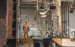 Arbeitskräfte der Abwrackwerft Stockbilder