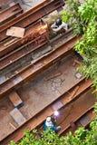 Arbeitskräfte in der Baustelle Stockfotos