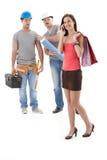 Arbeitskräfte, die entlang der Schönheit anstarren Lizenzfreie Stockbilder